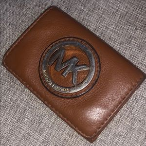 Mk flip card holder wallet